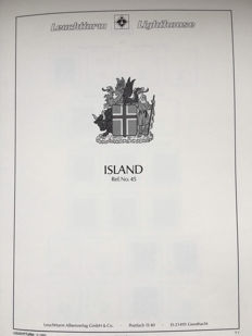 Iceland 1873/1997 - Broad collection in Leuchtturm album with case