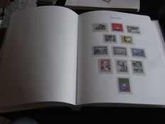 Austria 1955/1979 - Collection on pages in clamp binder