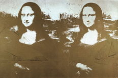 Andy Warhol (after) - Two Golden Mona Lisas (1980)