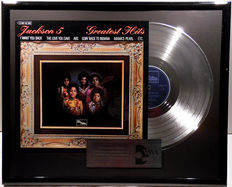 """Jackson Five - Greatest Hits ( with Michael ) - 12"""" german Motown platinum plated record with cover by WWA Awards"""