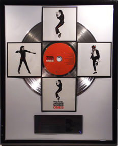"Michael Jackson - Number Ones - 12"" german platinum plated record with CD and cover by WWA gold Awards"