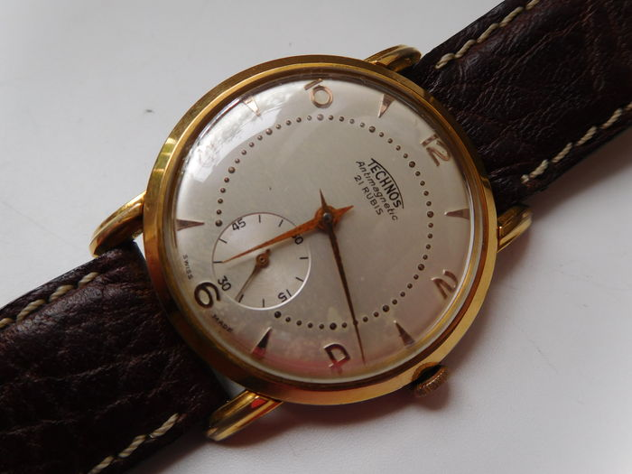 Technos swiss made 1960s vintage wristwatch classic collection 21 rubis catawiki for Technos watches