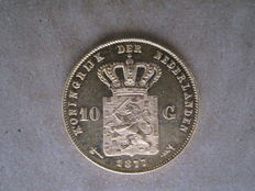 The Netherlands – 10 Guilders 1877 Willem III – gold