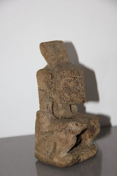 Statue from an ancestor made of fossilised whale bone – Atoni tribe – Timor – Indonesia