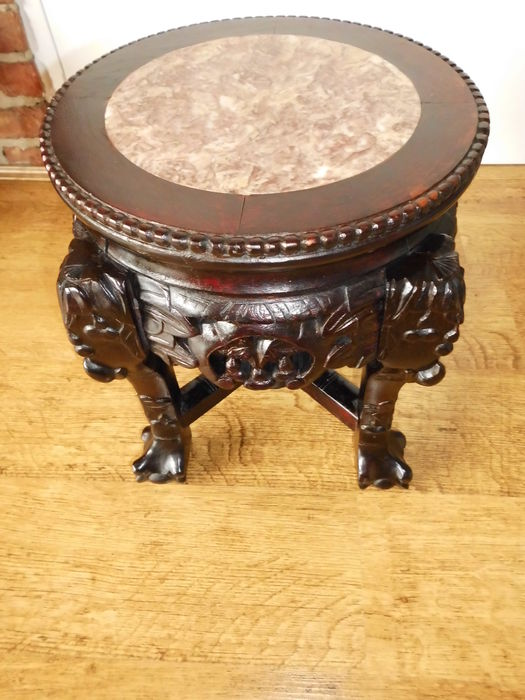 Heavy side table base with marble top china middle for Th 37px60b table top stand
