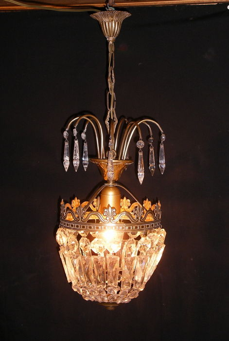 Maria theresa montgolfiere chandelier crystal drops and brass maria theresa montgolfiere chandelier crystal drops and brass structure italy 1940s aloadofball Image collections