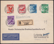 Norway, Denmark and Liechtenstein 1925/1938 – Selection of two postal items and a postcard