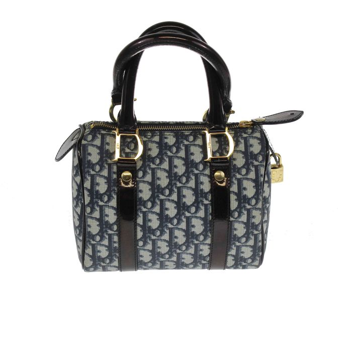 1678e07857b Christian Dior bowler bag in leather and canvas - Catawiki