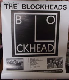 The Blockheads(Ian Dury's old band),Original concert poster, The Citadel St. Helens. Punk, new wave.