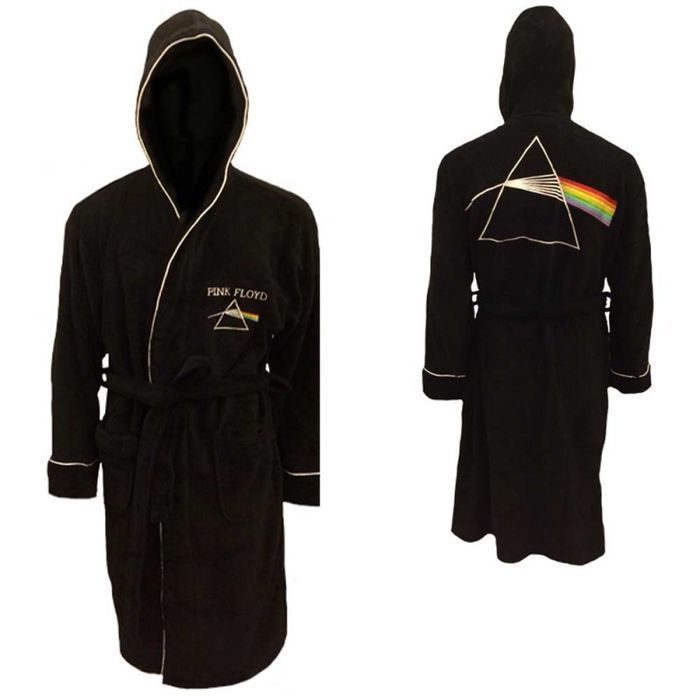 "Pink Floyd Bathrobe Depicting The Classic ""DSOTM Logo"" in Satin  -  Still Sealed !  -  Ideal X - Mas Gift  !"