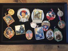 Collection of badges poilu days WW1