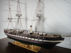 Jylland 1870 - Danish sailing/steam warship - wooden model boat from Billing Boats