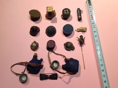 Miniature objects commemorative of 1914-1918, pieces of the time