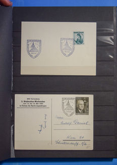 Austria – batch of postage stamps with cancellations, Korneuburg, old and modern