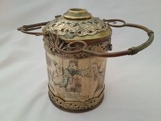 Finely decorated opium pot - China - approx. 1900