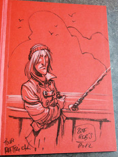 Le loup des mers + colored dedication drawing - hc - 1st edition (2012)