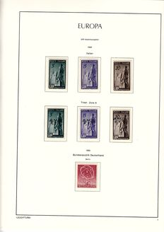 Europa stamps 1949/1979 - Europa stamps and followers in Leuchtturm album