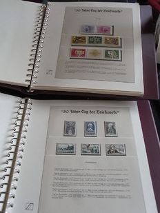 Fifty years 'Day of the postage stamp' – collection in two Lindner-T-Falzlos albums