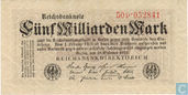 Banknotes - Reichsbanknote - Germany 5 Billion Mark