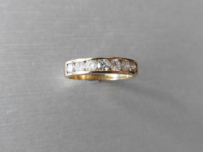 18kt Gold Diamond Eternity Ring -  0.35ct  - size 53