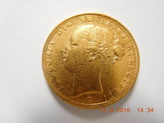 Australien – Sovereign, 1887, Melbourne, Victoria – Gold