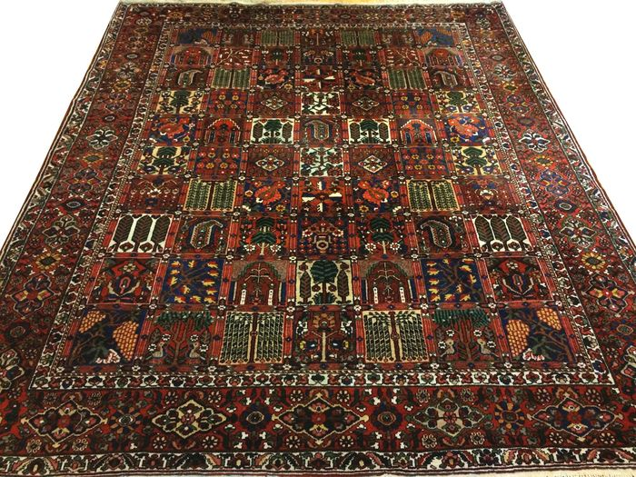 splendide tapis persan bakhtiar tapis iranien 385 x 325 cm en excellent tat catawiki. Black Bedroom Furniture Sets. Home Design Ideas