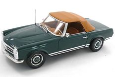 Norev - Scale 1/18 - Mercedes-Benz 230 SL (W113) Pagode 1963 - Colour Moss Green