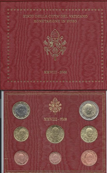 Vatican - year collection from 2008 'Benedictus XVI'