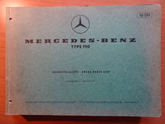 """1960 - MERCEDES-BENZ """"Type 190"""" - Original Spare parts list (thick factory book dated July 1959)"""