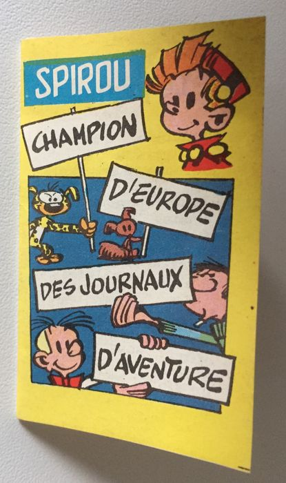 Journal Spirou - Catalogue figurines en latex Dupuis - B - EO (1960)