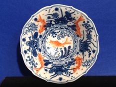 Bowl decorated with goldfishes – China – mid 20th century