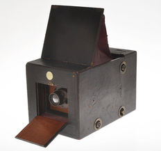 "Reflex Camera Co. ""Patent Reflex Hand Camera"" 1896 very rare reflex camera for plate 4x5"""