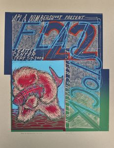 Concert (8x) and event (1 x) posters: o.a. The Farm Blitz Babiez The Decemberists Jay Ryan (Flatstock) Arling & Cameron Skik