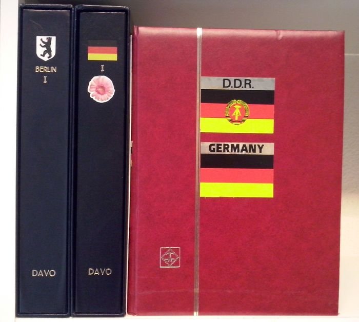 Germany 1948/1990 – Collection Berlin, Bundesrepublik (Federal Republic of Germany) and various in 2 Davo albums and a stock book.
