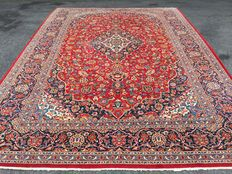 Large Persian Keshan! Signed! Very valuable! Investment! Oriental carpet/ carpet hand-woven