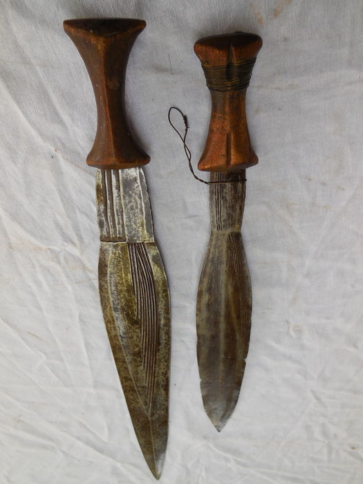 Two Old, Rare Hand-forged African Hunting Knives/Swords/Combat