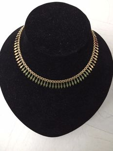 Large Cleopatra Drapery Necklace in 18 kt Gold - 22 g.