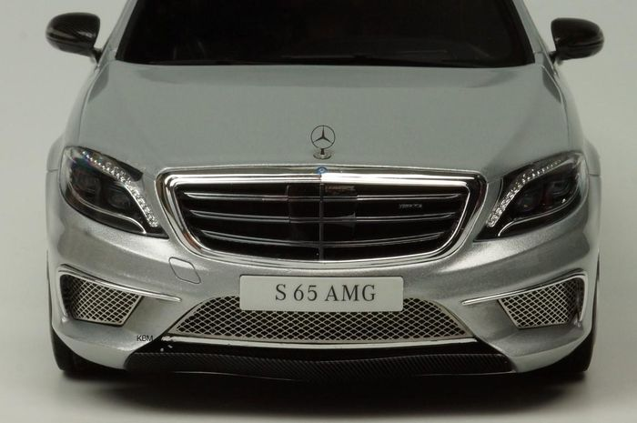 Gt spirit scale 1 18 mercedes benz s65 amg 2016 silver for Mercedes benz s65 amg 2016