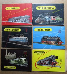 TRIX Express H0 - lot of 6 catalogues 1953, 1954, 1955, 1956, 1957, 1958