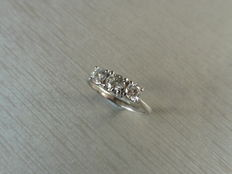 18k Gold Diamond Trilogy Ring - 0.65ct  I, SI2 - size M