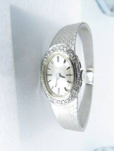 Ebel classic ladies' watch 750 white gold with 0.25 ct of brilliants