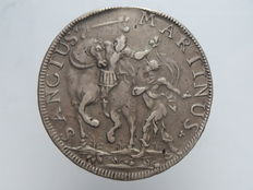 Republic of Lucca – 1747 Scudo coin – 'San Martino' – Silver