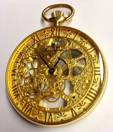 Pierre Laurent Skeleton pocket watch 21st century