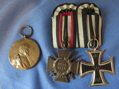 lot of 2 German medals and one medallion