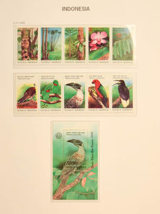 Indonesia 1949/2001 – Collection in two Davo preprint albums