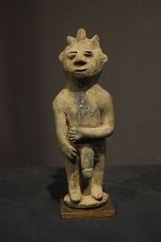 Terracotta Sculpture of a Male Nude Man -IDOMA-- Nigeria.