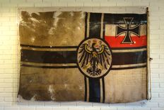 Large model WW1 Kriegsmarine/Reich Kriegsflag - Germany 1914-1918
