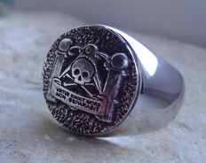 Sterling Silver 925 Unique Latin Skull Ring Handmade 21st century