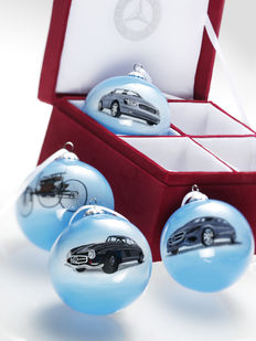 Mercedes Benz original Christmas ornament set - 4-piece special edition, 125 years