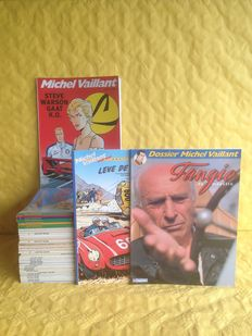 Michel Vaillant 32x + Onuitgegeven toppers 9x + Dossier Michel Vaillant 1x  - 42x sc - 24x 1e druk/18x herdruk
